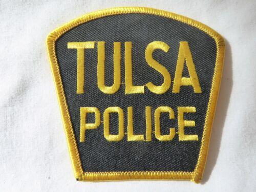 TULSA OKLAHOMA POLICE UNIFORM EMBLEM PATCH, NEW UNUSED!