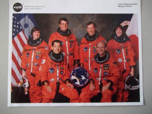 STS-99 Autographed 8X10 NASA Crew Photo