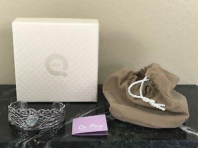 Or Paz Sterling Silver Stack Ethiopian Opal Cuff Bracelet