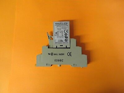Omron K7l-at50 Liquid Leakage Sensor Amplifier Wdin Rail Base
