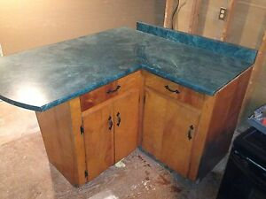 Man cave bar lunch counter kitchen island  cabinet