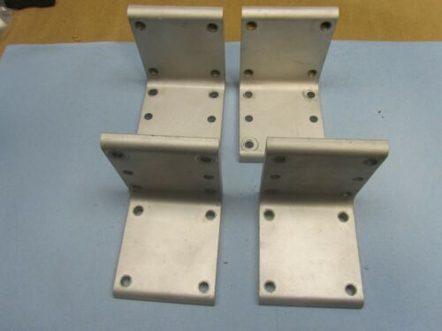 (LOT OF 4) Heavy Duty Corner Fitting Angle L Bracket Industrial Aluminum Gusset