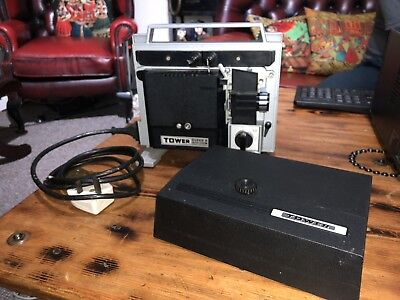 TOWER super 8 Auto Zoom Cine Film Movie Reel Projector With Hard Case