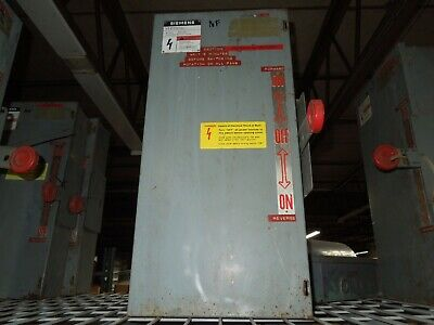 Siemens Nf351dtk 30a 3p 600v Ac Double Throw Non-fusible Manual Transfer Switch
