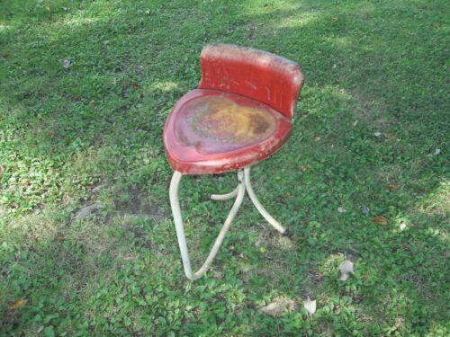 HTF Vintage Metal Heart Shaped Chair Stool - All Original!