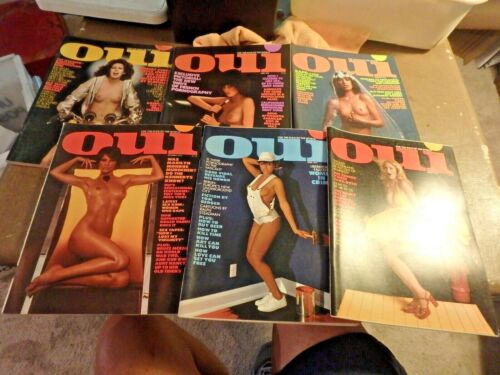 bundle of 12 OUI mens magazines 1975,1976 & 1977