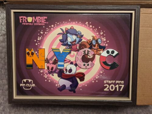 NYCC 2017 FROMBIE STAFF PIN CLUB SET w/ Frame New York Comic-Con only 50 avail