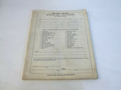 Allis-chalmers Mounted 2 4 Row Planters Operators Manual