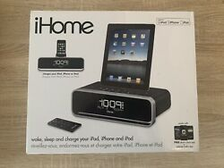 iHome iD95 Dual Alarm Clock Radio Charging Dock for iPad/iPhone/iPod - BRAND NEW