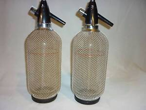 Soda Water Syphon, Soda Siphon with Silver Mesh Surround. Prospect Launceston Area Preview