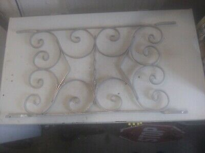 Vintage Aluminum Screen Door Grill Push Guard Protector - Needs Some Repairs