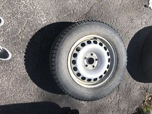 4 winter tires with rims 250$