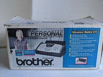 Brother Fax-575 Personal Plain Paper Fax Phone Copier Toner Cartridge Read