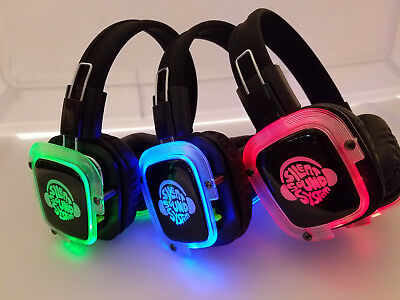 BEST Silent Disco Sound System Headphones (100 Headphones + 3 Transmitters)