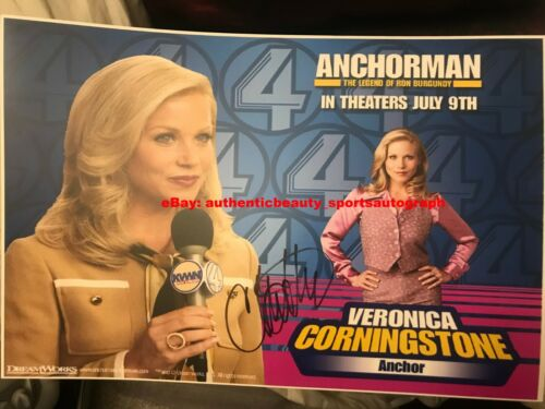 CHRISTINA APPLEGATE ANCHORMAN VERONICA CORNINGSTONE SIGNED POSTER 12x18 REPRINT