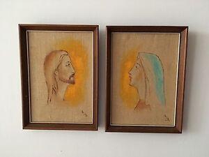 Peintures saintes rétro 40$ l'ensemble