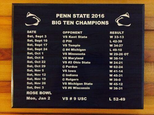 Laser Engraved gift - Penn State Big Ten Champion Plaque