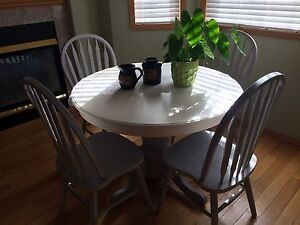Refinished 4 chair table set