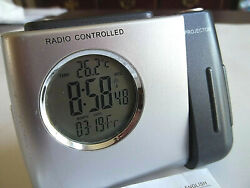 Digital Radio Controlled Projection Alarm Clock with Instructions