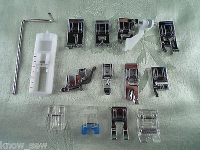 New 14pc Snap-On Presser Foot Set for VIKING HUSQVARNA Sewing Machines