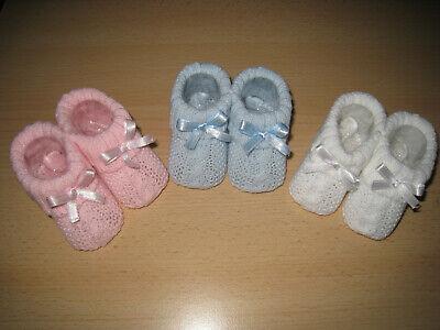 Baby Booties (Baby Erstlingsschuhe Booties Babyschuhe Strickschüchen Taufschuhe Englandmode)