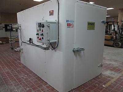 308 Cu. Ft. Cabinet Blast Freezer 6 Bakers Racks Food Processing Or Freezing