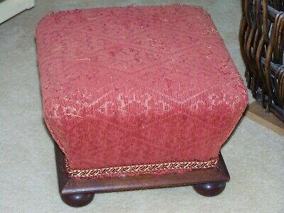 Small Victorian Footstool, needs recovering.