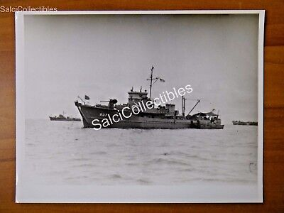 Official  Us Navy Ship Minesweeper Photograph 8X10 Am 237 Uss Fortify