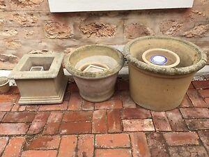 Assorted sandstone look concrete pots. Prospect Prospect Prospect Area Preview