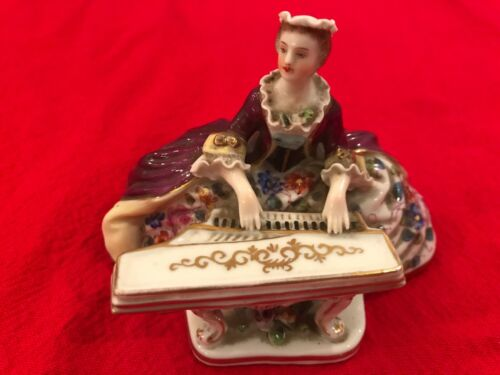 "Royal Vienna Figurine ""Lady Playing Piano"""