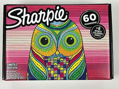 Sharpie Permanent Markers Fine Ultra-fine Tip Multi Color 60 Pack
