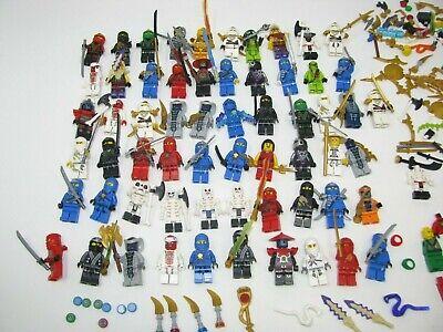 Lego Ninjago Minifigure Lot 60 Figures Weapons Accessories kitanas 100% genuine