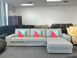 DELIVERY TODAY BEAUTIFUL COMFORTABLE GREY L shaped corner sofa