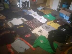Bmx shirts bundle,  bunch of near new shirts jackets and hoods.