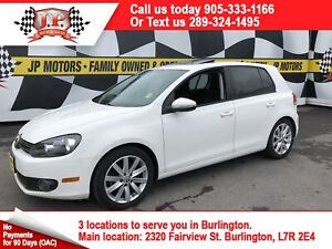 2012 Volkswagen Golf Confortline, Auto, Leather, Sunroof, Diesel