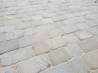 Branshaw Grey 50x 150mm Yorkshire stone Tumbled setts block Paving Path driveway