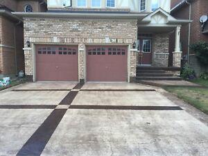 Designed walkways stamped concrete 416 333 3323