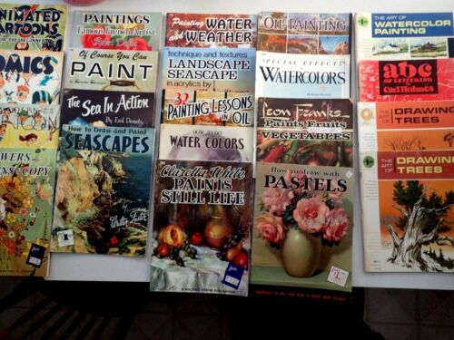 LOT 20 WALTER FOSTER ART INSTRUCTION BOOKS Cartoons Animation Drawing Painting