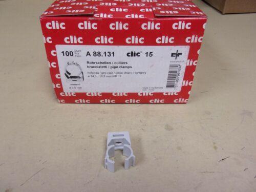 Clic 15 Pipe Clamp , Box Of 100