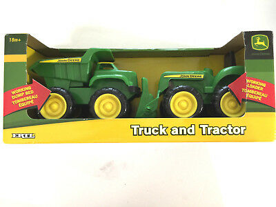 John Deere Sandbox Vehicle 2 Piece Set Truck and Tractor 18M TBEK35874