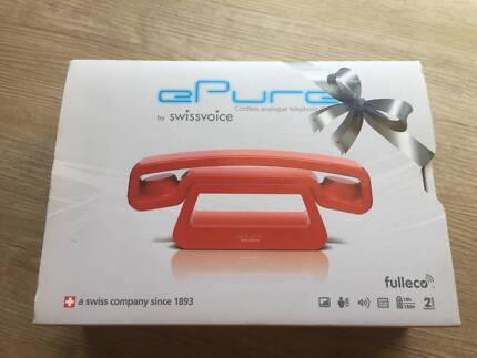 swissvoice ePure cordless analogue telephone (DECT), red