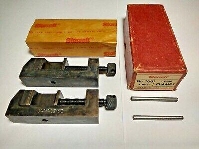 Starrett No.160 Toolmakers 2 Steel Clamps - 1 Pair In Original Box Ts