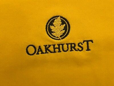 UNDER ARMOUR YELLOW PERFORMANCE GOLF SHIRT OAKHURST CC EXC SZ L for sale  Grand Rapids