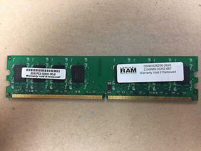 Logical Solutions DIMM DDR2 SDRAM Memory 2GB PC2-5300U (5300 Sdram Dimm Memory)
