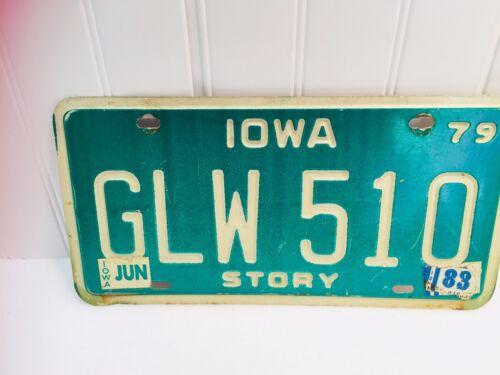 1983 Iowa License Plate 22275 Story County