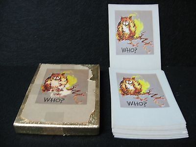 Paper Plates In Bulk (Vintage 48 OWL WHO? BOOK PLATES in BOX Antioch bookplate co)