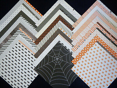 12x12 Scrapbook Paper Cardstock Halloween Fright Night American Crafts Basics 24 Cardstock 12x12 Scrapbook Paper