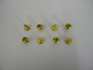 Holley 1005-635 Brass Throttle Plate Screws Pack of 8