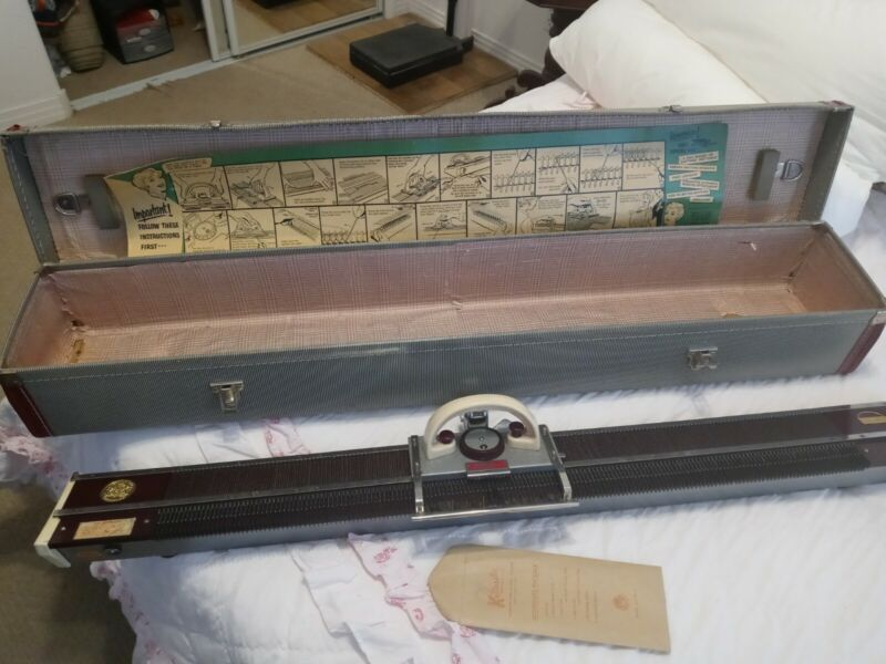 1960 Knitking Model 4500 Knitting Machine, Case, & Paperwork