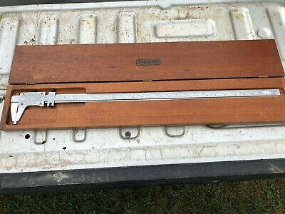 Starrett 123 Vernier Caliper 26 Hardened Stabilized Master Bar With Box